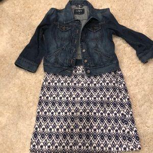 Blue jean jacket size 2 + Westport 1962 4 skirt